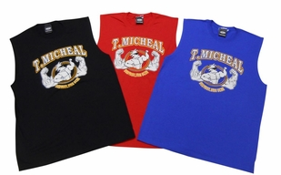 T. Micheal Printed Workout Muscle Shirt # 107D- Factory Direct