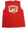 T. Micheal Printed Workout Muscle Shirt # 107D- Factory Direct - Red