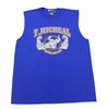 T. Micheal Printed Workout Muscle Shirt # 107D- Factory Direct - Blue