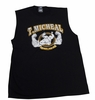 T. Micheal Printed Workout Muscle Shirt # 107D- Factory Direct - Black