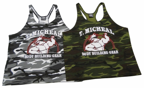 T. Micheal Stringer Camo Tank Top- Style #ST-102BP