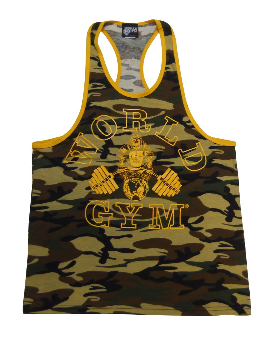 a3d88e4665a92e World Gym Ringer Camo Tank Top