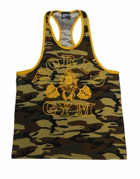 World Gym Ringer Camo Tank Top