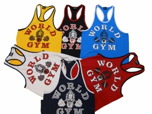 4600fec28d11f World Gym Stringer Tanks