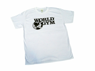 World Gym White Tee