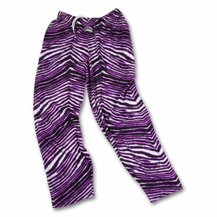 Zubaz Pants: Black/Fluorescent Purple Zubaz Zebra Pants- Sold Out