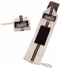 "Schiek 1112 12"" Wrist Wraps - White w/ Black Stripes"