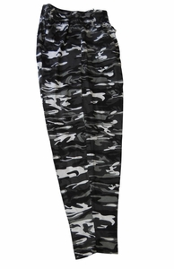 T. Micheal Black Camo Baggy Pants # 916A