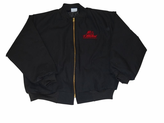 T. Micheal Embroidered Classic Athletic Jacket - Style 1017 Black