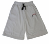T Micheal Embroidered Baggy Work Out Shorts # 00946 - White