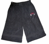 T Micheal Embroidered Baggy Work Out Shorts # 00946 - Black