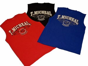 T. Micheal Printed Workout Muscle Shirt # 179D- Factory Direct