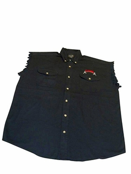 T. Micheal Sleeveless Denim/Twill Shirt- #209SL- Sold Out