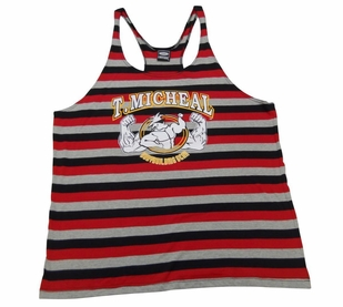 T. Micheal Striped Stringer Tank Top- Style 107B