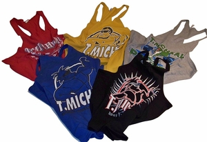 T. Micheal Three-Pack Printed Tanks Tops #300B- Factory Direct