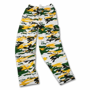 Zubaz Pants: Green/Gold Camo Zubaz Pants