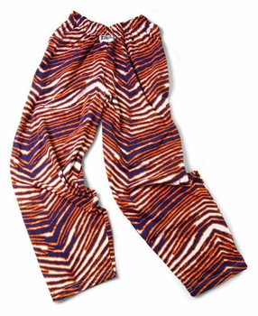 Zubaz Pants: Navy/Orange Zubaz Zebra Pants- Sold Out
