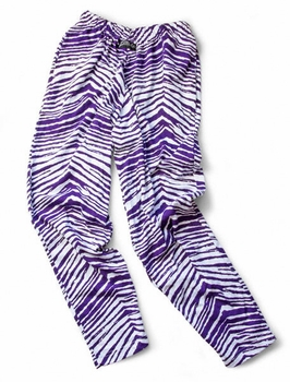Zubaz Pants: Purple/White Zubaz Zebra Pants- Sold Out