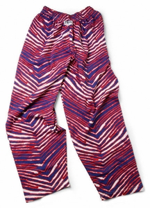 Zubaz Pants: Red/Blue Zubaz Zebra Pants