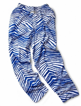 Zubaz Pants: Royal Blue/White Zubaz Zebra Pants- Sold Out
