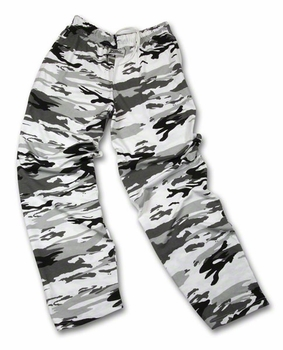 Zubaz Pants: Urban Black/Gray Zubaz Pants