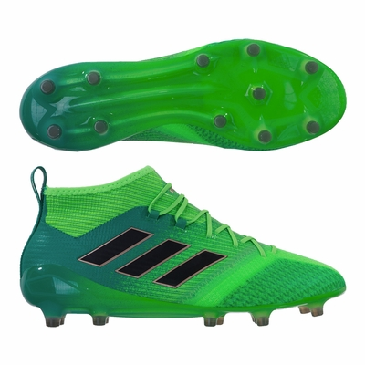 adidas ACE 17.1 Primeknit FG Soccer Cleats - Solar Green - Click to enlarge