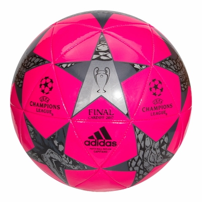 adidas Finale Capitano Soccer Ball - Pink/Black - Click to enlarge