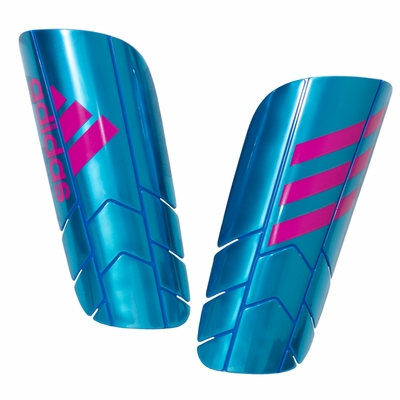 adidas Ghost Pro Soccer Shinguards - Blue/Pink - Click to enlarge