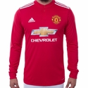 adidas Manchester United 2017/2018 LS Home Jersey