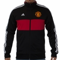 adidas Manchester United 3 Stripe Track Top - Black