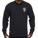 adidas Manchester United Crew Sweatshirt - Dark Grey