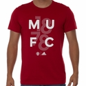 adidas Manchester United Goalkeeper Graphic Tee - Power Red