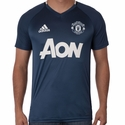 adidas Manchester United Training Jersey - Mineral Blue