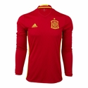Men's adidas Spain 2016 LS Home Jersey