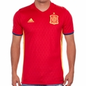 Men's adidas Spain 2016 Authentic Home Jersey