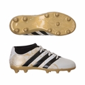 Kids adidas ACE 16.3 Primemesh FG Soccer Cleats - White/Gold