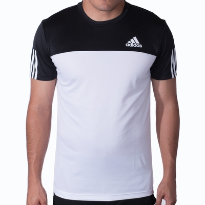 Men's adidas CB Essentials Tech Tee - White/Black - Click to enlarge