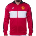 Men's adidas Manchester United 3S Track Top - Real Red