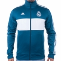 Men's adidas Real Madrid 3S Track Top - Petrol Night