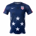 Men's Nike USA Squad SS Gold Cup Training Top - Midnight Navy