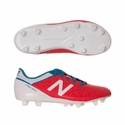 Kids New Balance JR Visaro Control FG Soccer Cleats - Red