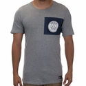Nike Paris Saint-Germain Crest Tee - DK Grey Heather