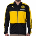 Puma Borussia Dortmund Poly Jacket - Black/Cyber Yellow