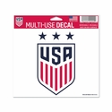 "U.S. Soccer 3-Star 5""x6""  Decal"
