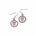 U.S. Soccer Round Earrings