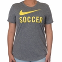 Women's Nike Soccer Graphic Tee - Carbon Heather