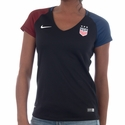 Women's Nike USA 2016 Stadium V-Neck Away Jersey