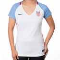 Women's Nike USA 2016 Stadium V-Neck Home Jersey