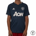 Youth adidas Manchester United Training Jersey - Mineral Blue