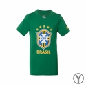 Youth Nike Brazil Crest Tee - Pine Green